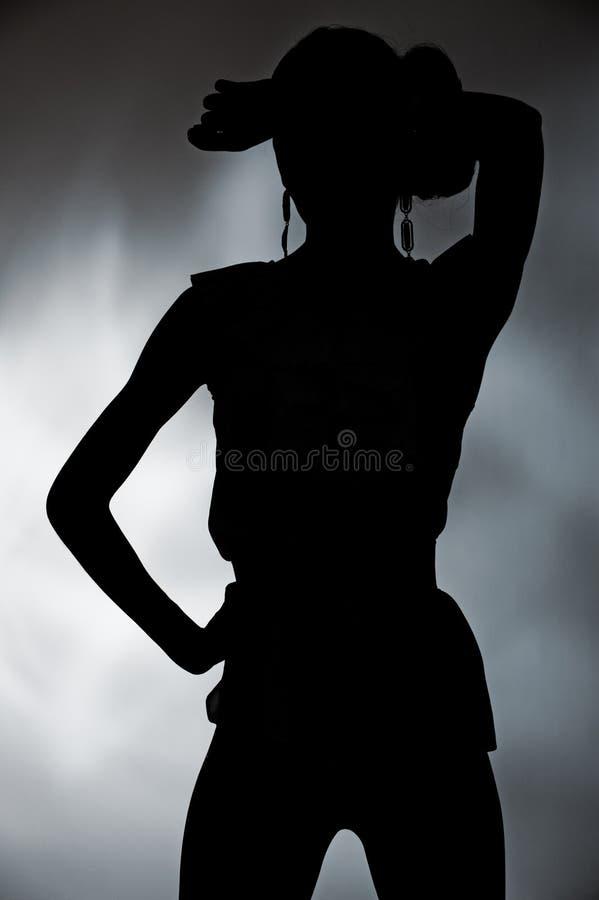 Silhueta da mulher fotos de stock