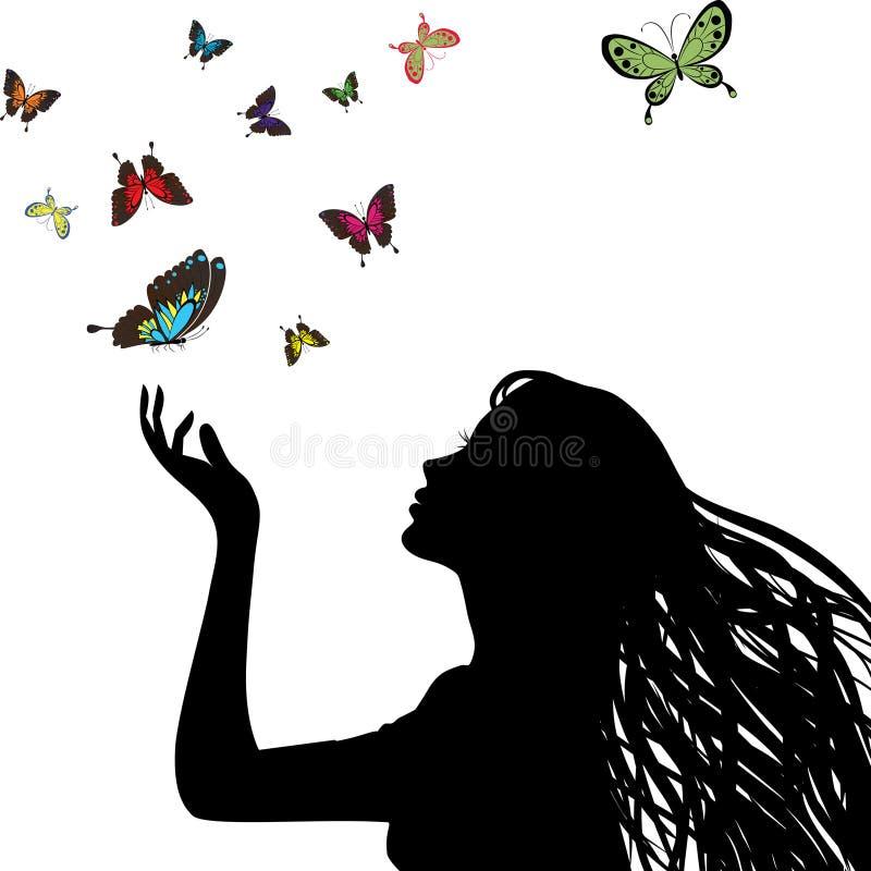 Silhueta da mulher ilustração royalty free