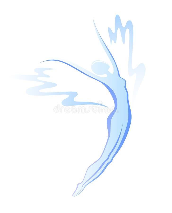 Silhueta da mulher do vôo ilustração do vetor