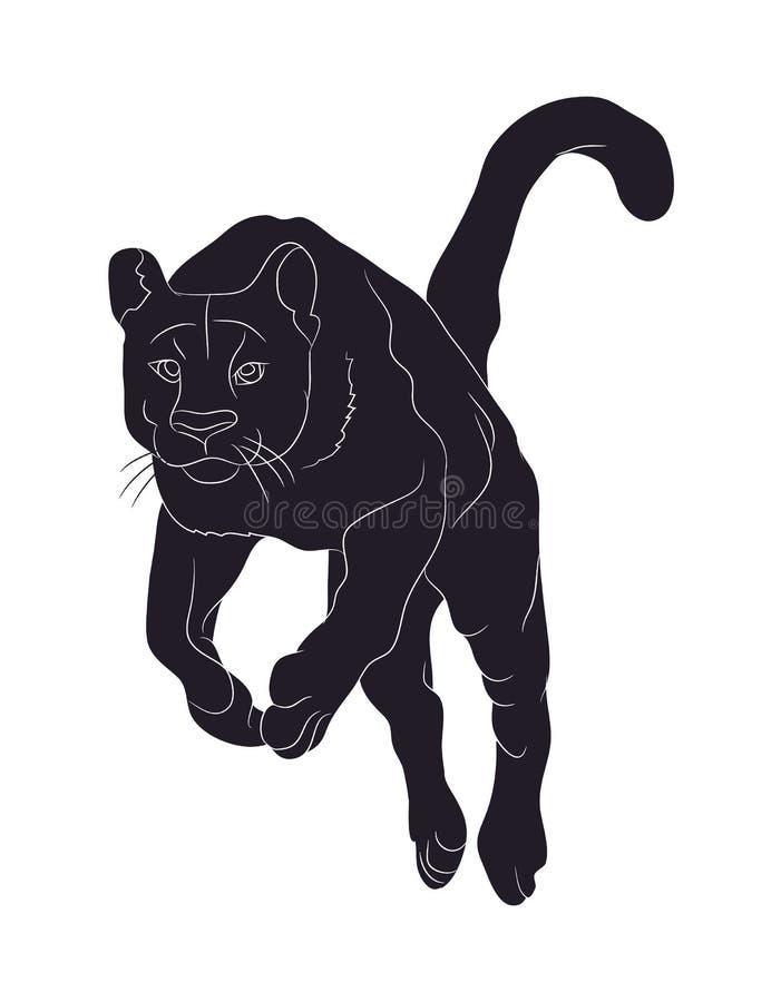 Silhueta da pantera, vetor ilustração royalty free