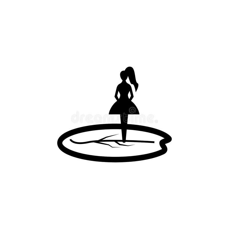 silhueta da polegada Elemento da ilustração dos heróis do conto de fadas Ícone superior do projeto gráfico da qualidade Sinais e  ilustração stock