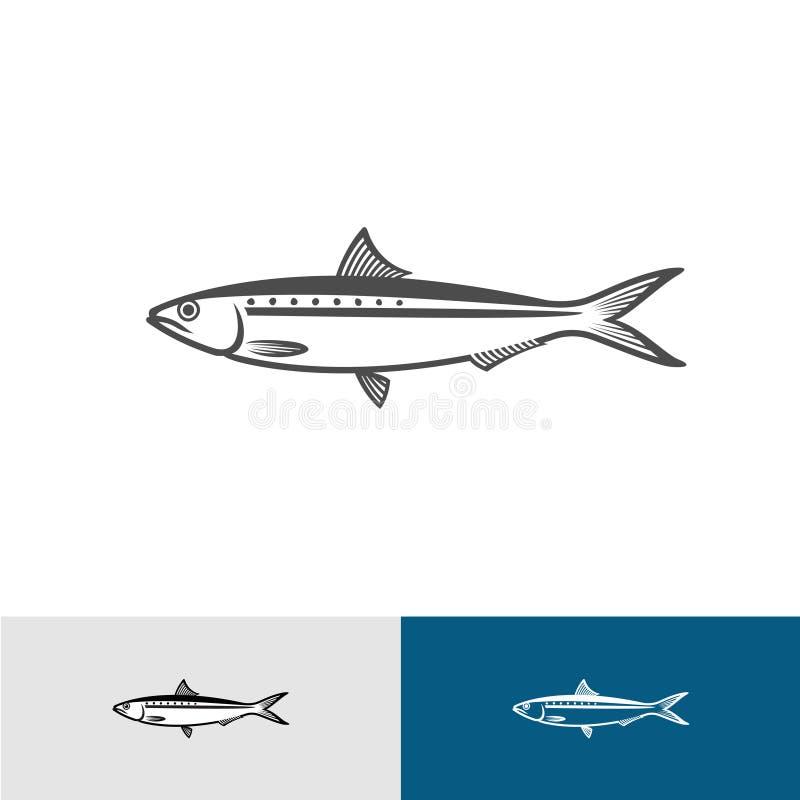 Silhueta da sardinha ilustração royalty free