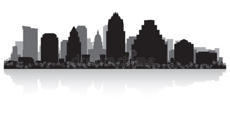 Silhueta da skyline da cidade de Austin Texas ilustração do vetor