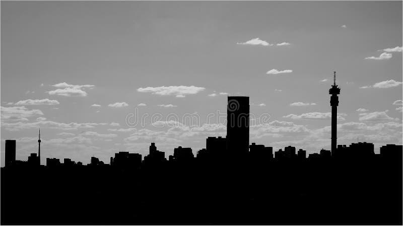 Silhueta da skyline da cidade imagens de stock