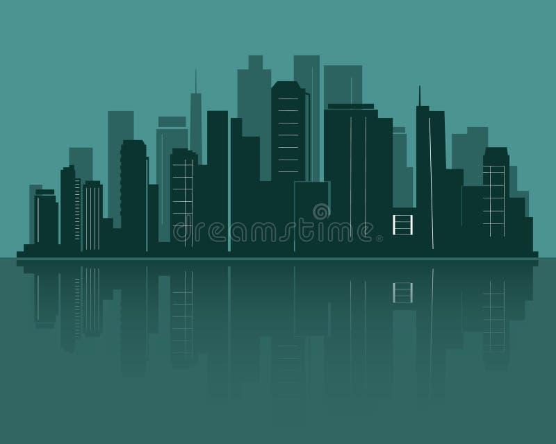 Silhueta da skyline da cidade ilustração royalty free