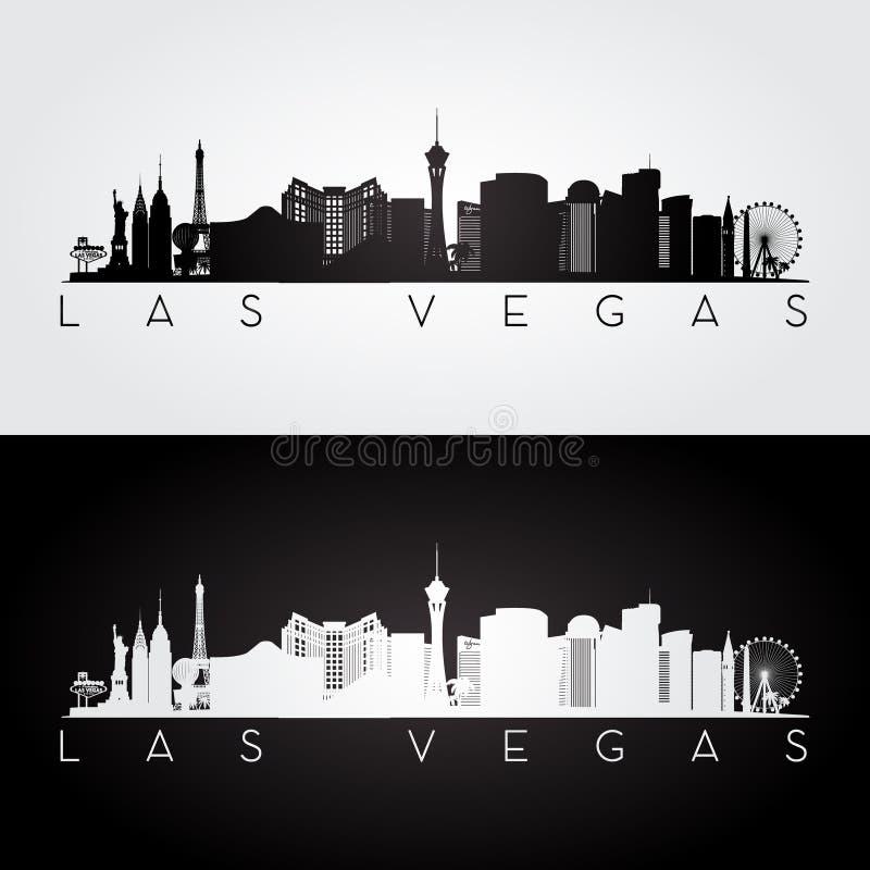 Silhueta da skyline de Las Vegas ilustração royalty free
