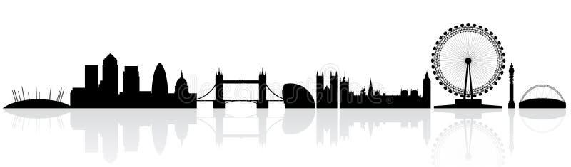 Silhueta da skyline de Londres ilustração do vetor