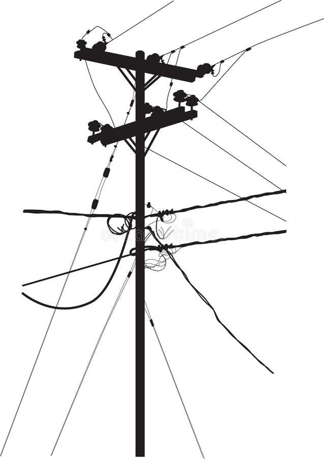Download Silhueta Da Torre Da Transmissão Ilustração do Vetor - Ilustração de perigoso, pilão: 16859927