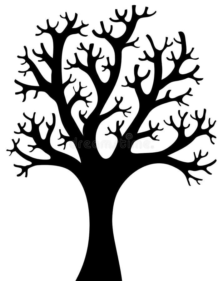 Silhueta dada forma árvore 4 ilustração do vetor