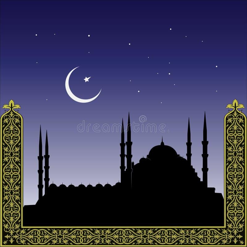 Silhueta das mesquitas ilustração stock