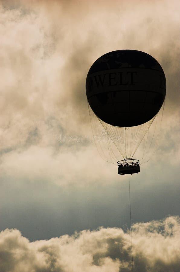 Silhueta de Baloon fotos de stock royalty free