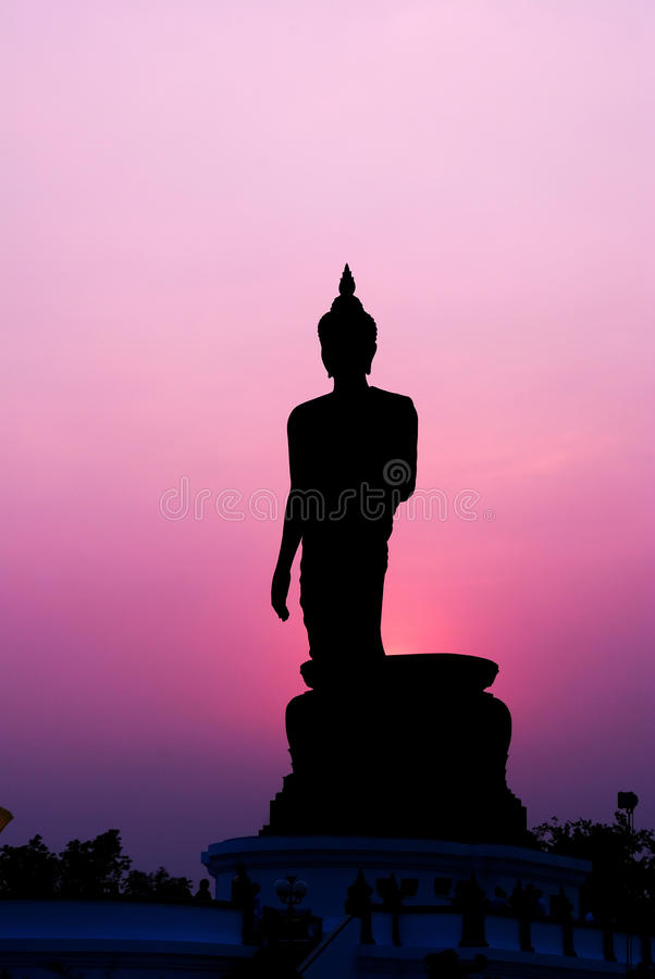 Silhueta de Buddha fotos de stock
