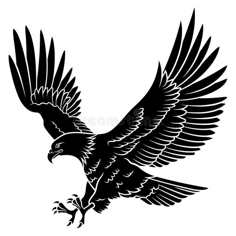 Silhueta 005 de Eagle ilustração royalty free