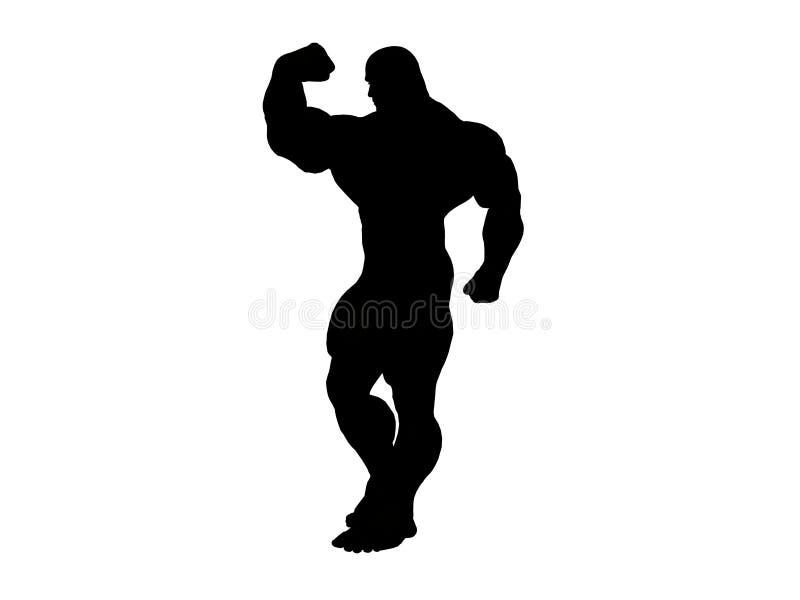Silhueta de Hercules ilustração stock