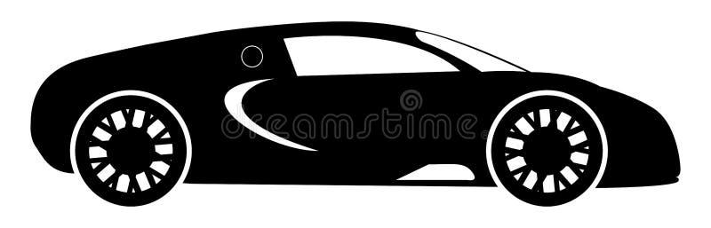 Silhueta de Hypercar ilustração stock