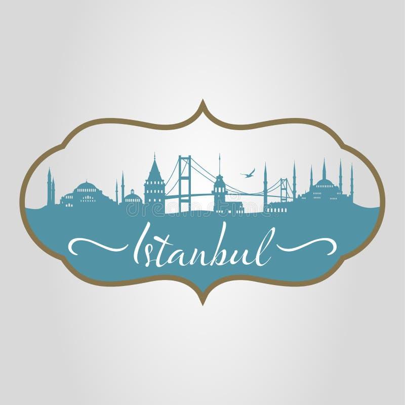 Silhueta de Istambul ilustração do vetor