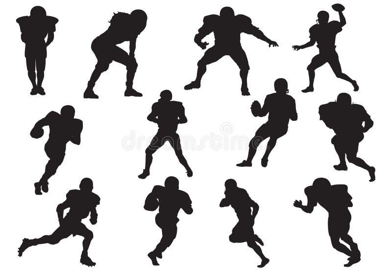 Silhueta de jogadores de futebol ilustração do vetor