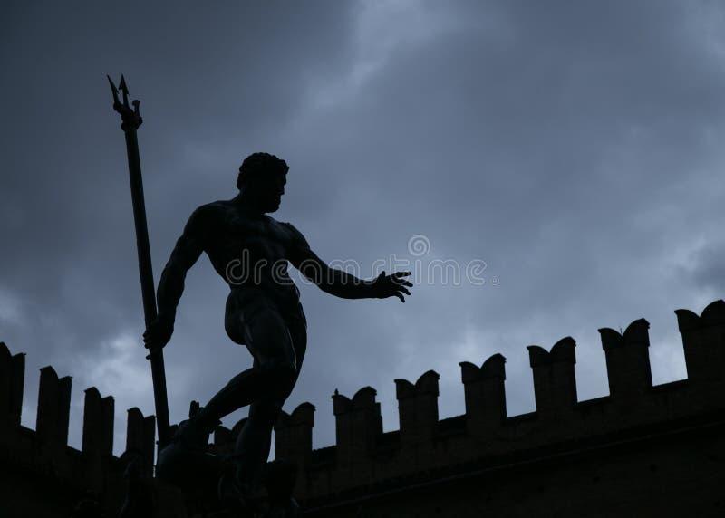 Silhueta de Netuno imagem de stock royalty free