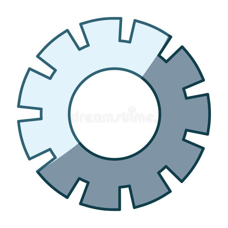 Silhueta de proteção azul do modelo quatro do pinhão ilustração stock