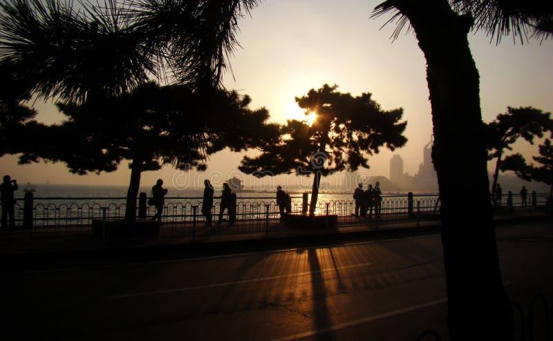 Silhueta de Qingdao fotografia de stock royalty free