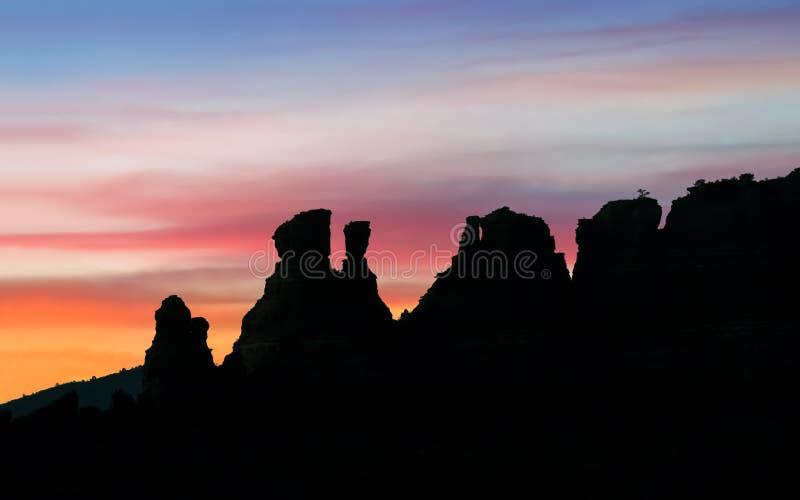 Silhueta de Sedona - o Arizona fotos de stock royalty free