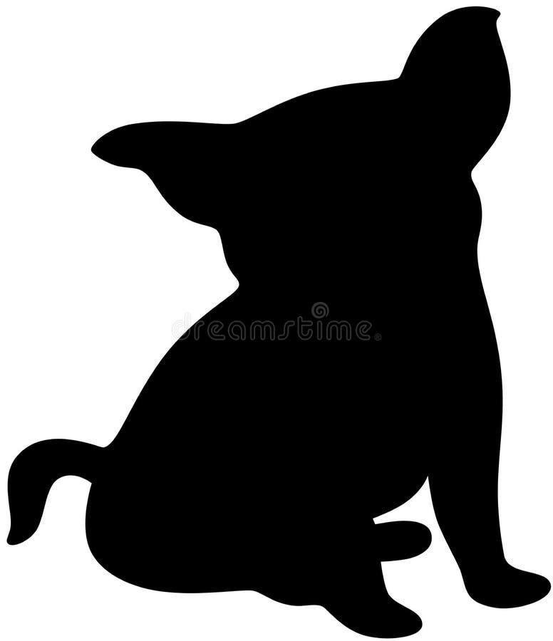 Silhueta de um cão ilustração stock