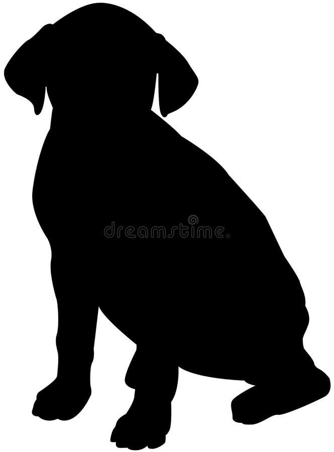 Silhueta de um cão ilustração royalty free