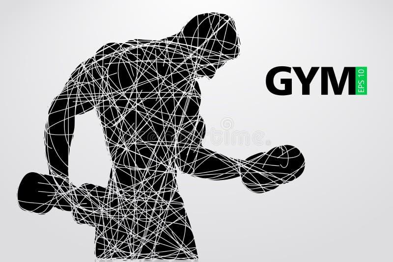 Silhueta de um halterofilista Vetor do logotipo do Gym Ilustração do vetor ilustração royalty free