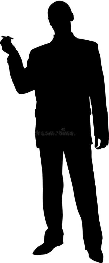 Silhueta de um homem novo ilustração do vetor
