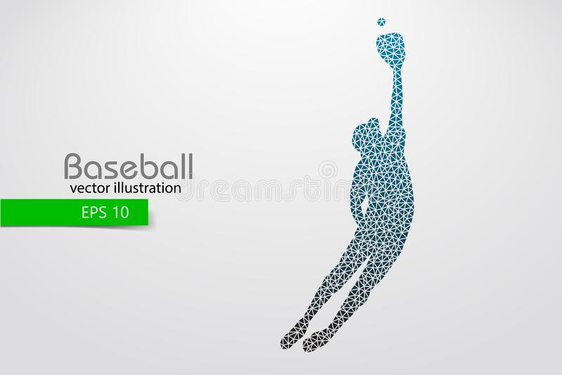 Silhueta de um jogador de beisebol Ilustração do vetor