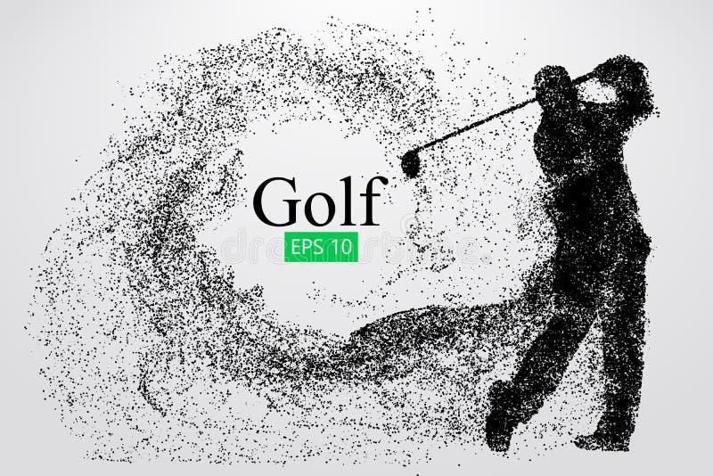 Silhueta de um jogador de golfe Ilustração do vetor ilustração stock