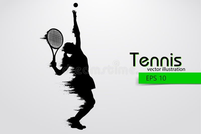 Silhueta de um jogador de tênis Ilustração do vetor ilustração royalty free