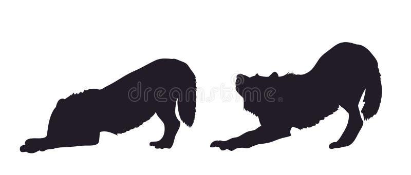 Silhueta de um lobo no movimento, vetor ilustração do vetor