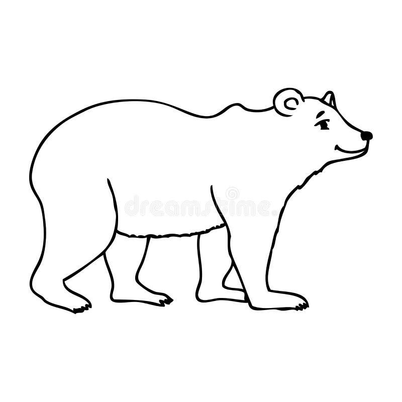 Silhueta de um urso ilustração do vetor