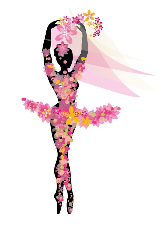 silhueta de uma bailarina ilustração royalty free