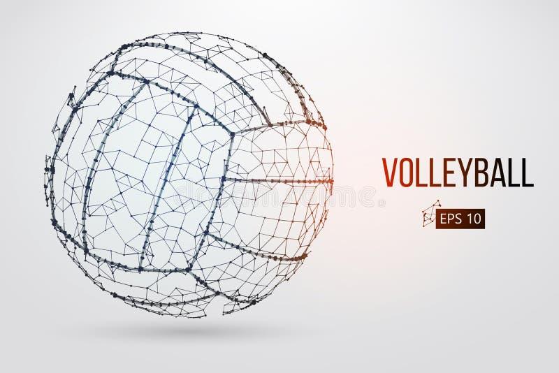 Silhueta de uma bola do voleibol Ilustração do vetor