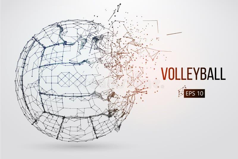 Silhueta de uma bola do voleibol Ilustração do vetor ilustração stock