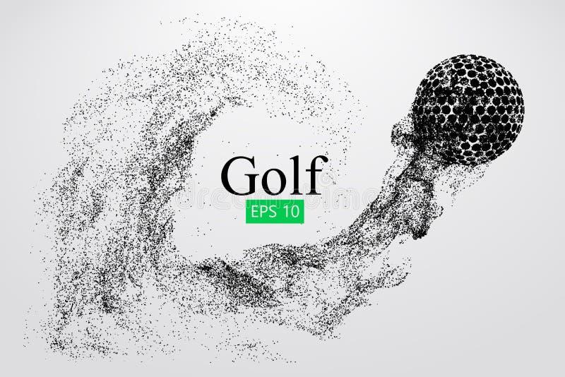 Silhueta de uma bola de golfe Ilustração do vetor