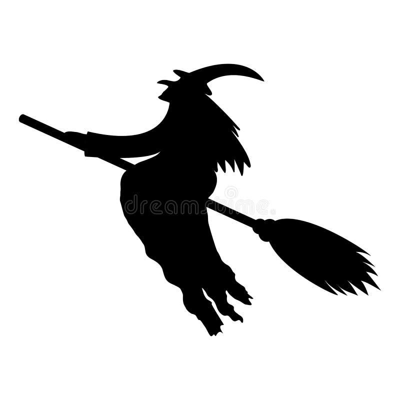 Silhueta de uma bruxa ilustração royalty free