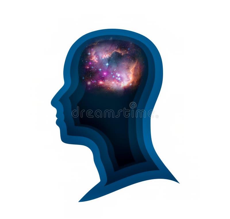 Silhueta de uma cabeça do ` s do homem ilustração do vetor