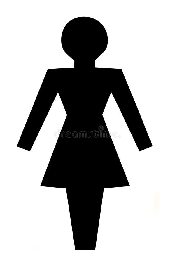 Silhueta de uma mulher ilustração stock