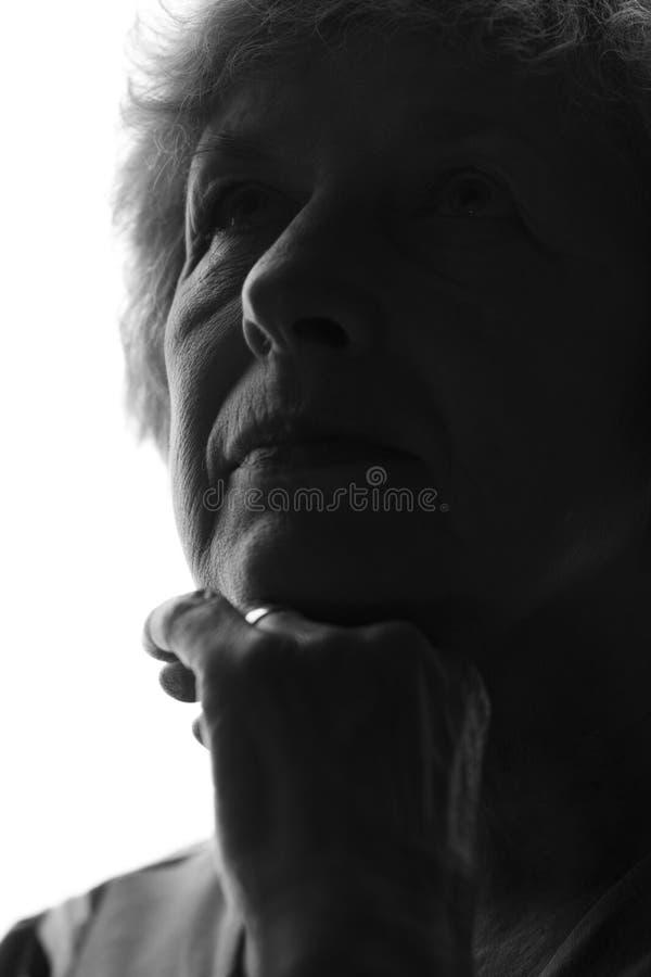 Silhueta de uma mulher adulta foto de stock royalty free