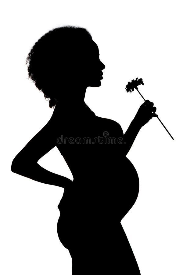 Silhouet grávido fotografia de stock royalty free