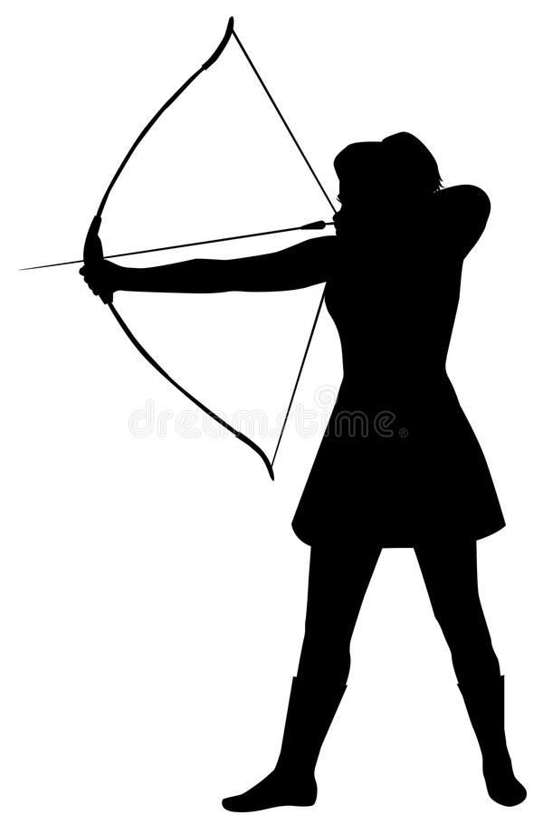 Silhueta de uma mulher com uma curva em um fundo branco ilustração do vetor