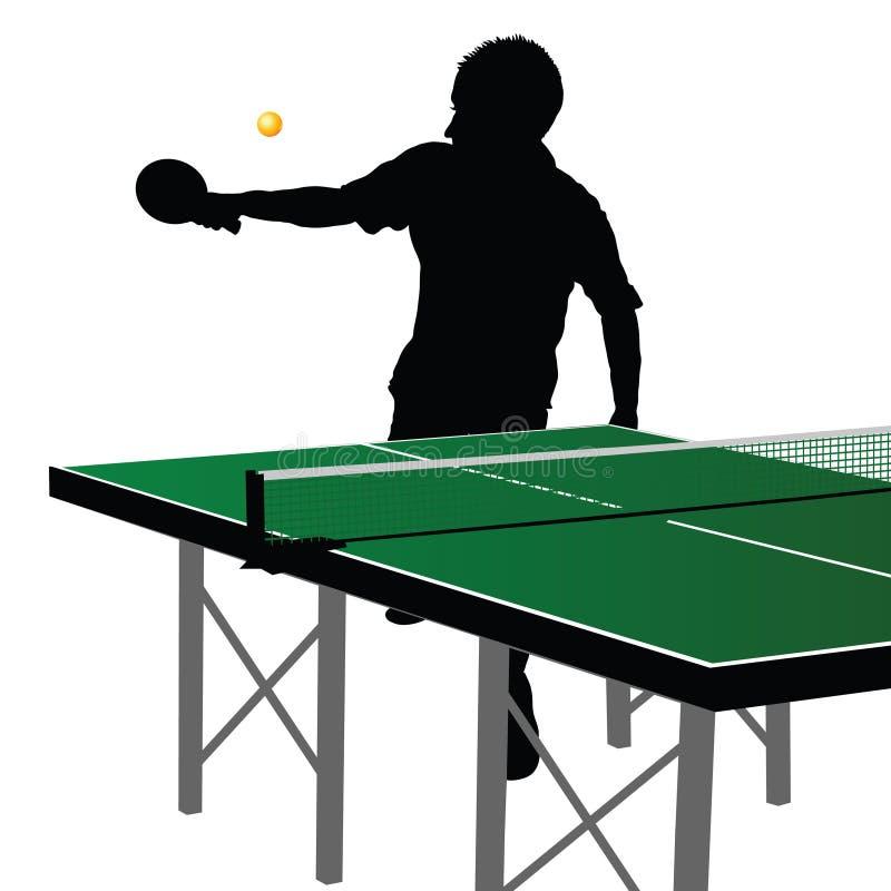 Silhueta dez do jogador do pong do sibilo ilustração royalty free