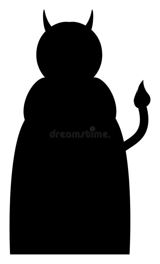 Silhueta do ícone do diabo Ilustra??o do vetor ilustração stock