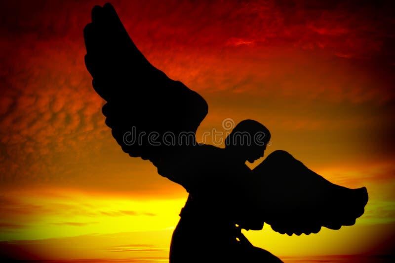 Silhueta do anjo fotos de stock