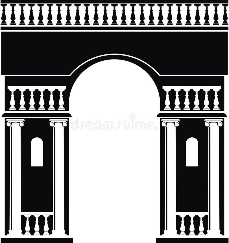 Silhueta do arco triunfal ilustração royalty free