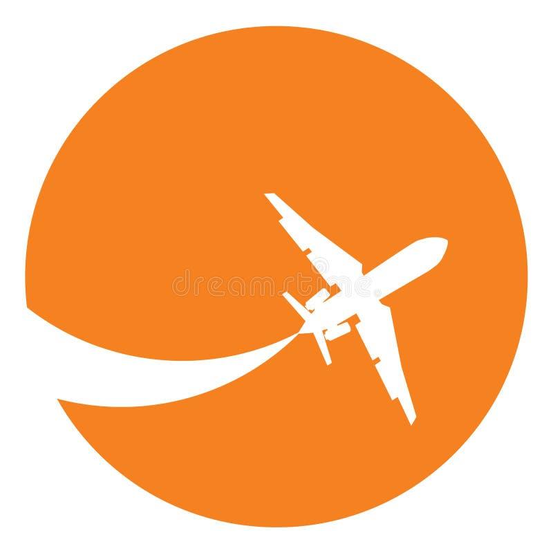 Silhueta do avião ilustração stock