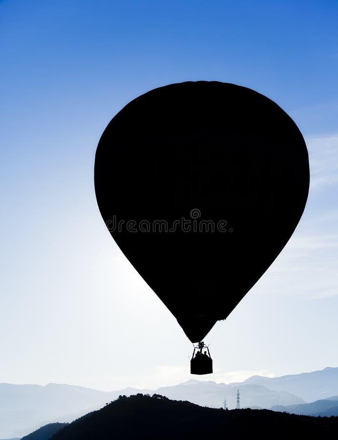 Silhueta do balão imagens de stock royalty free